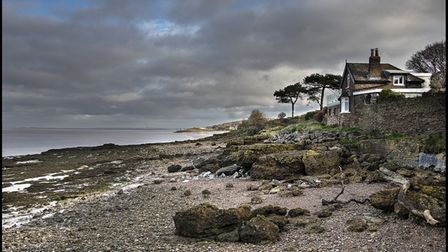 Looking towards Battery Point from near Black Nore lighthouse in Portishead.