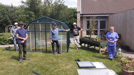 Nailsea Shedders greenhouse