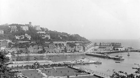 A view of late Victorian Torquay from the Rock Walk