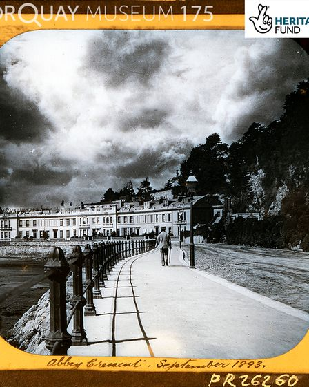 Abbey Crescent on Torquay seafront in September 1893