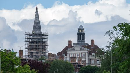 The spire at St Jude's has been bare since Storm Barney, five years ago