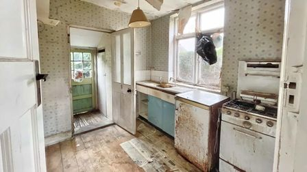 Inside the kitchen at the house in Penshurst Road, Ipswich.