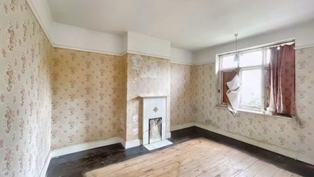 Inside the home, which was built in the 1930s and requires a full-refurb.
