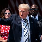 BEDMINSTER, NJ - JULY 7: Former President Donald J. Trump speaks about filing a class-action lawsuit