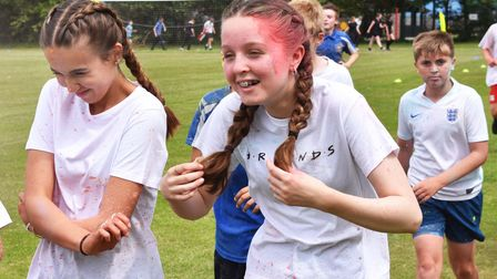 The 5km run that included a colour dash at Pakefield High School in Lowestoft.