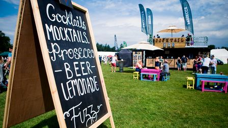 You can try cocktails from the bar at The Great British Food Festival at Knebworth Park.
