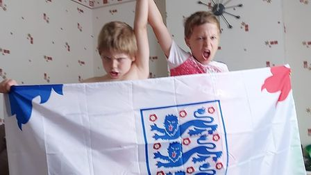 Hunts cheers on England in the Euro 2020 final on July 11.