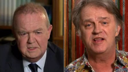 Ian Hislop and Paul Merton tear into Dominic Cummings on Have I Got News For You. Photograph: BBC.