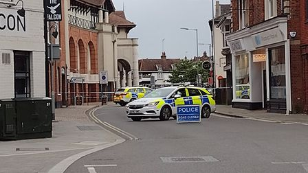 Falcon Street in Ipswich has been taped off by police