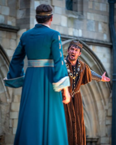The Lord Chamberlain's Men perform Macbeth for the 2021 Shakespeare Festival. Photograph: Norwich C