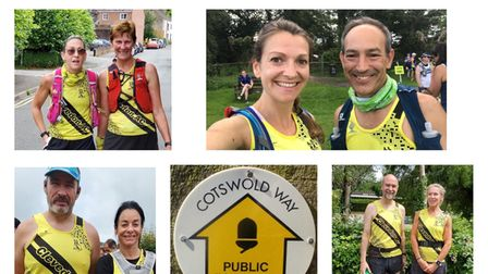 Clevedon AC members enjoyed the Cotswold Way Relay challenge