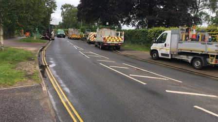 Work begins in South Park Avenue, by Eaton Park in Norwich, on Monday morning, July 12.