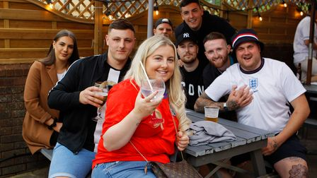 England Fans - The Great Northern - Hatfield.