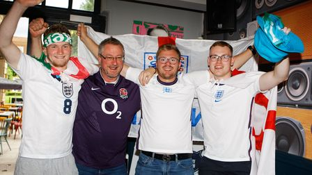 England Fans - The Two Willows.