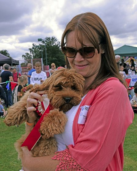 There was a Fun Dog Show at Paxfest in Little Paxton.