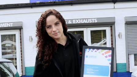 Chloe Cutter picked up two apprenticeship awards for work at St Neots firm.
