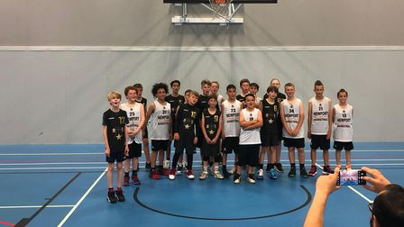 North Somerset Stars under-12s and Newport Aces face the camera