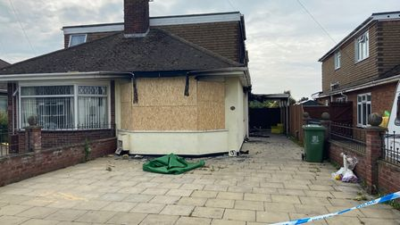The home Chestnut Avenue, Bradwell, where a man sadly died in a fire