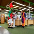 Redbridge Libraries has apologised after an animal costume featuring genitalia was worn at a children's reading event.