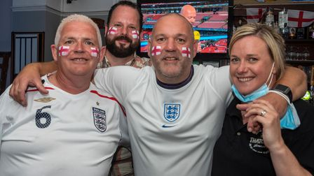 England fans at Raddy's Bar.