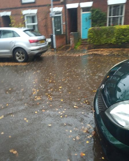 Flooding on Beatrice Road last year which residents say was not as bad as what happened on Friday