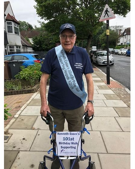 Kenneth Essexis walking 10km in10 daysfor Hospice Aid UK