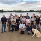 Some of the group on their weekly Thursday evening sunset walk around Fairlop Waters