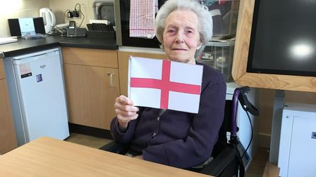 Residents of Allington Court care home in St Albans watched the Euro 2020 final.