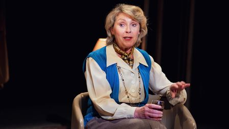 Karen Ascoe in A Splinter of Ice, which can be seen at Cambridge Arts Theatre.