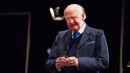 Oliver Ford Davies asGraham Greene in A Splinter of Ice, which can be seen at Cambridge Arts Theatre.