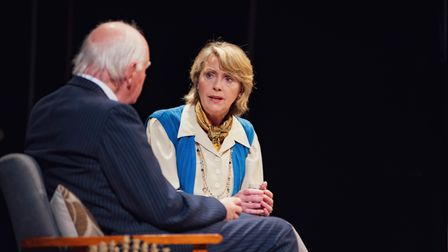 Oliver Ford Davies andKaren Ascoe in A Splinter of Ice.