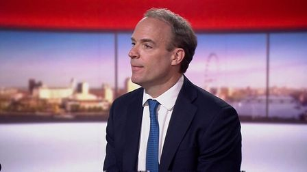 Dominic Raab appears on the Andrew Marr Show. Photograph: BBC.