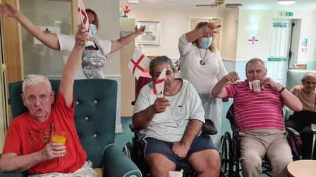 Romford Care Home Harold Hill supporting the Three Lions