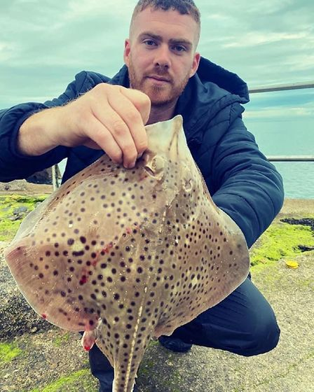 Aaron Colhoun with a spotted Ray
