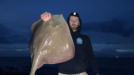 George Drew with a Small eyed Ray