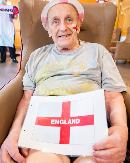 Residents at Hunters Down, in Huntingdon,enjoyed the England game.
