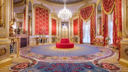 Axminster Carpets prvided the stunning floor coverigns at Brighton Pavilion. Picture Jim Holden