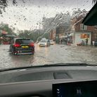 'Engine-deep' flooding visible from Roger Gulhane's car in South End Green
