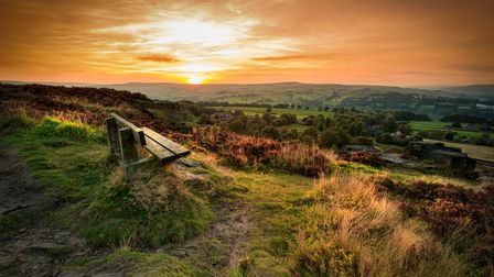 Sunset at Norland moor, Halifax , West Yorkshire