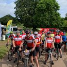 Edwards team at the start of Ride for Precious Lives