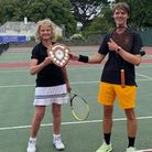 Mixed Doubles winners Marjory Anne Bromhead and Greg Shipp