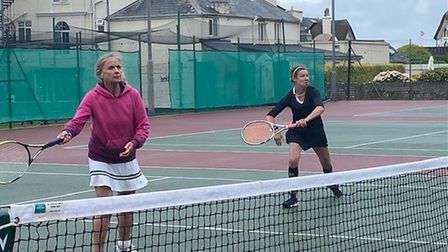 Ladies Doubles finalists Marjory Anne and An