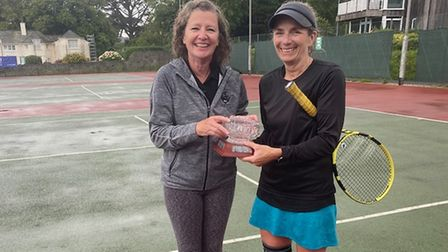 Alison Stevens and Viv Bess winners of the Ladies' Doubles