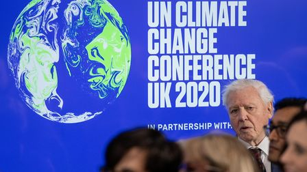 Sir David Attenborough at the launch of the next COP26 UN Climate Summit at the Science Museum, Lond
