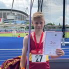 Bobby Williams won silver in the junior javelin with his 47.05m throw.