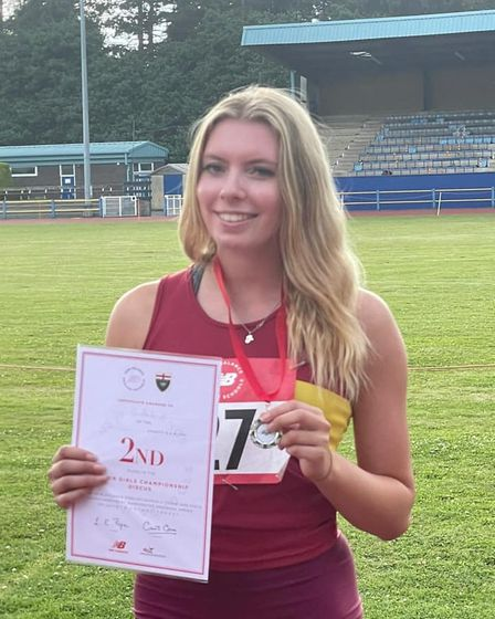 Alice Brown bagged a silver medal