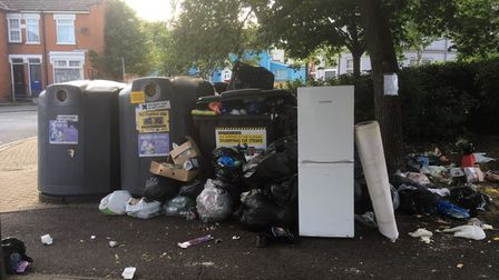 Another incident of rubbish dumped in Vernon Street, Ipswich