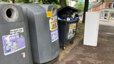 Ipswich Borough Council has cleaned up the rubbish in the Stoke area of town