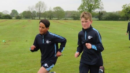 Students at Abbey College in Ramsey took part in a Race for Life event to raise money for Cancer Research.