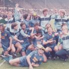 Wealdstone celebrating sealing the double after FA Trophy victory at Wembley in 1985 (Pic: Wealdston